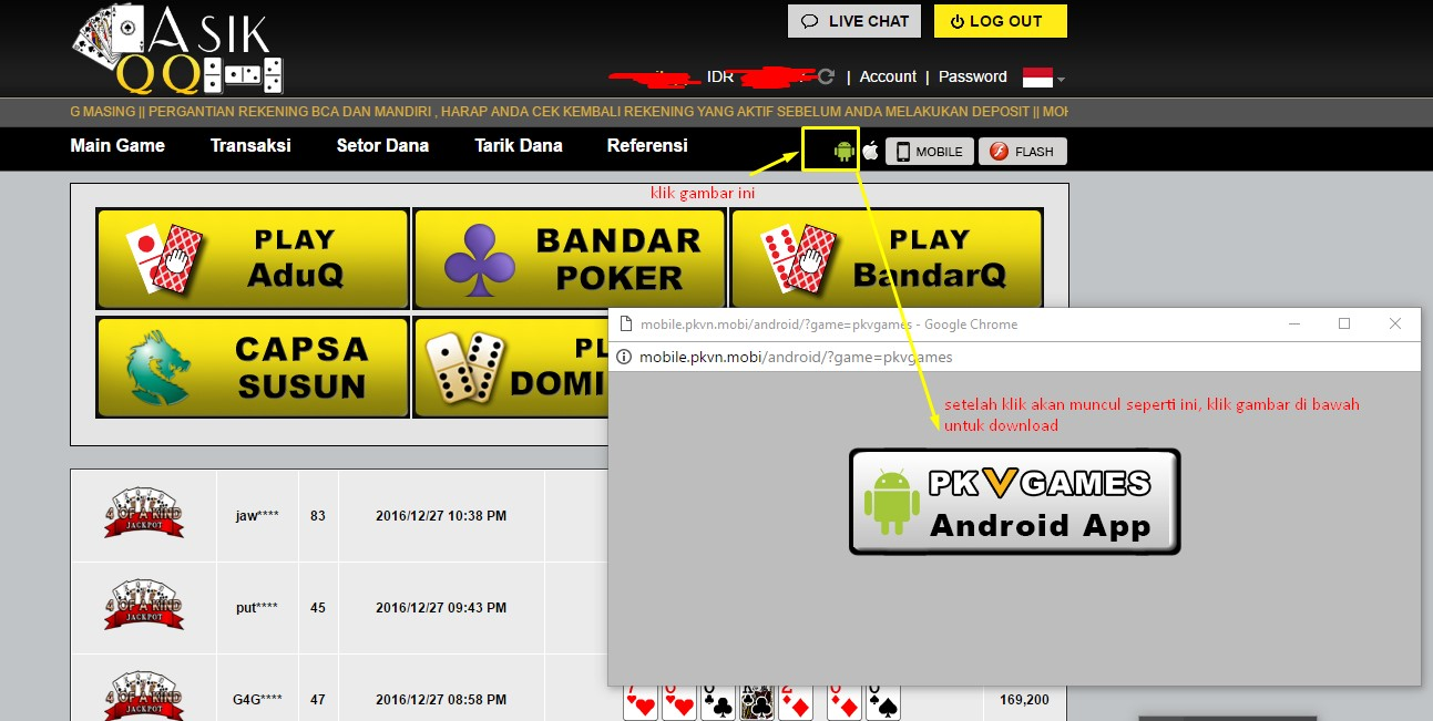 Cara Download Bandarq, Domino 99, Poker pkv Games Apk Android