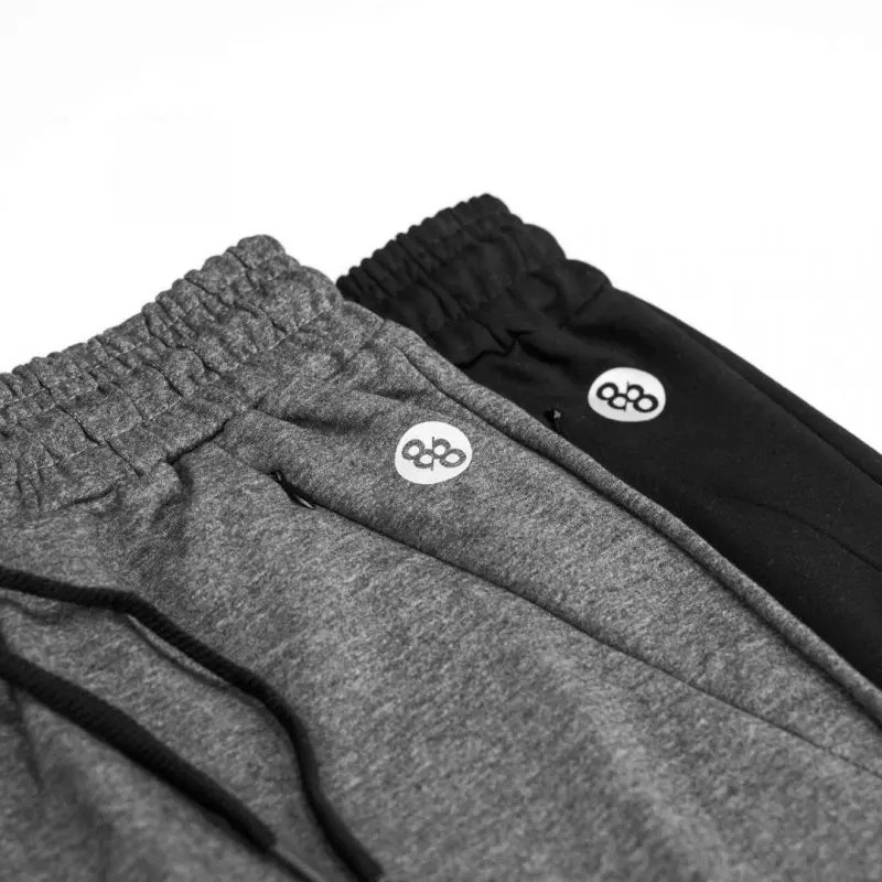 black and grey tech joggers