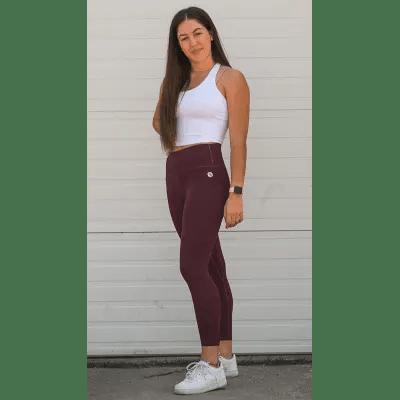 explore leggings bordeaux front