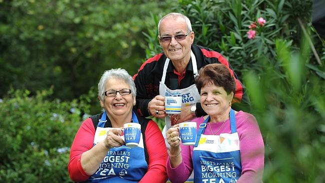 Theresa Quattromani, John Cuschieri and Helen Cuschieri prepare for the Horsley Park Australia's Biggest Morning Tea fundraiser Source: News Limited
