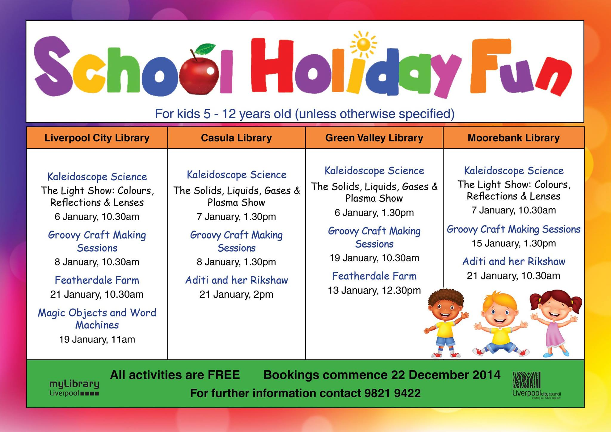 Summer School Holiday Fun For The Kids