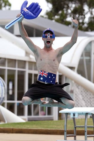 Fairfield Leisure Centre Pool party as part of this year's Australia Day celebrations. Pictures: Jonathan Ng