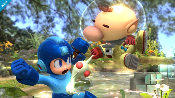 That is one creepy little pikmin Olimar is wielding
