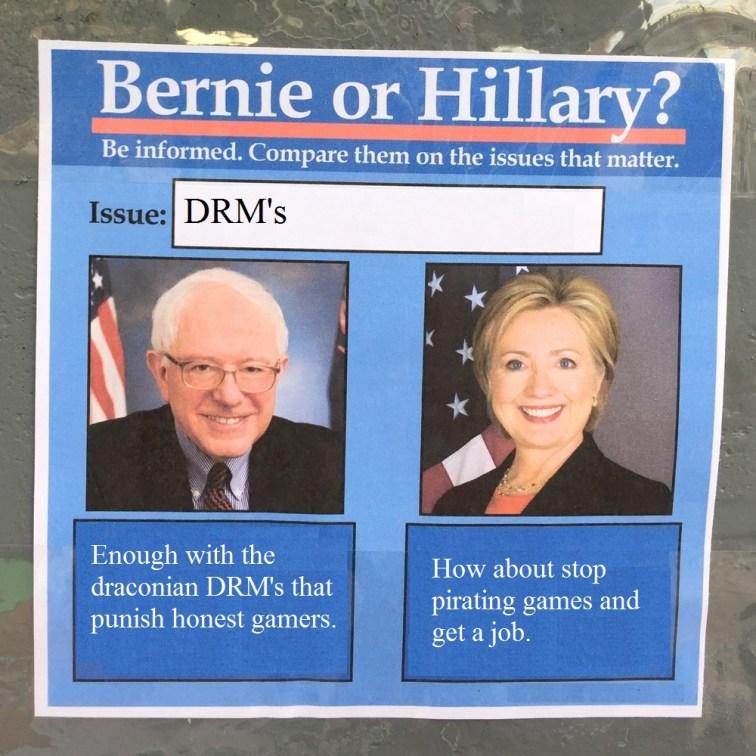 BernieorHiliaryDRM