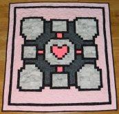 companion_cube_quilt_by_quiltoni-d67rutc