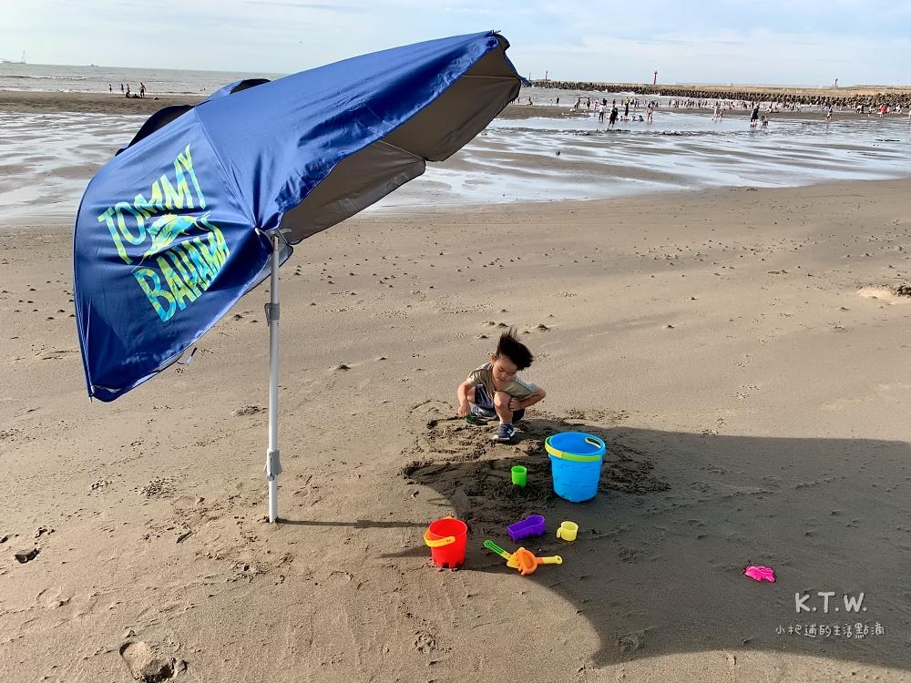 竹圍沙灘親子景點