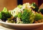 Рис с брокколи и чесноком