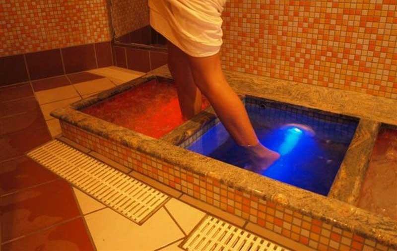 Контрастные ванночки для снятия боли