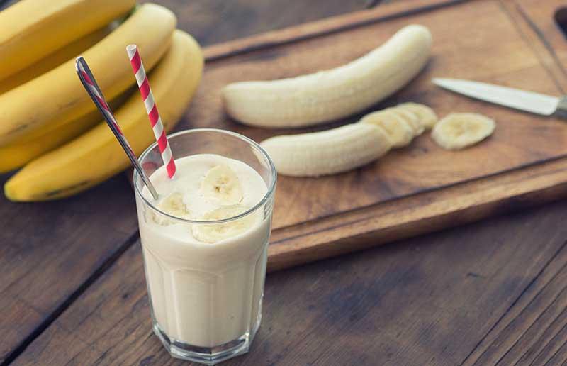 Банановый кисель на основе льна