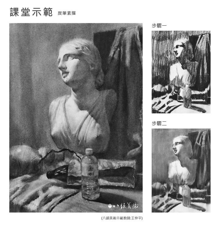 八頭畫室課堂示範-素描 (1)