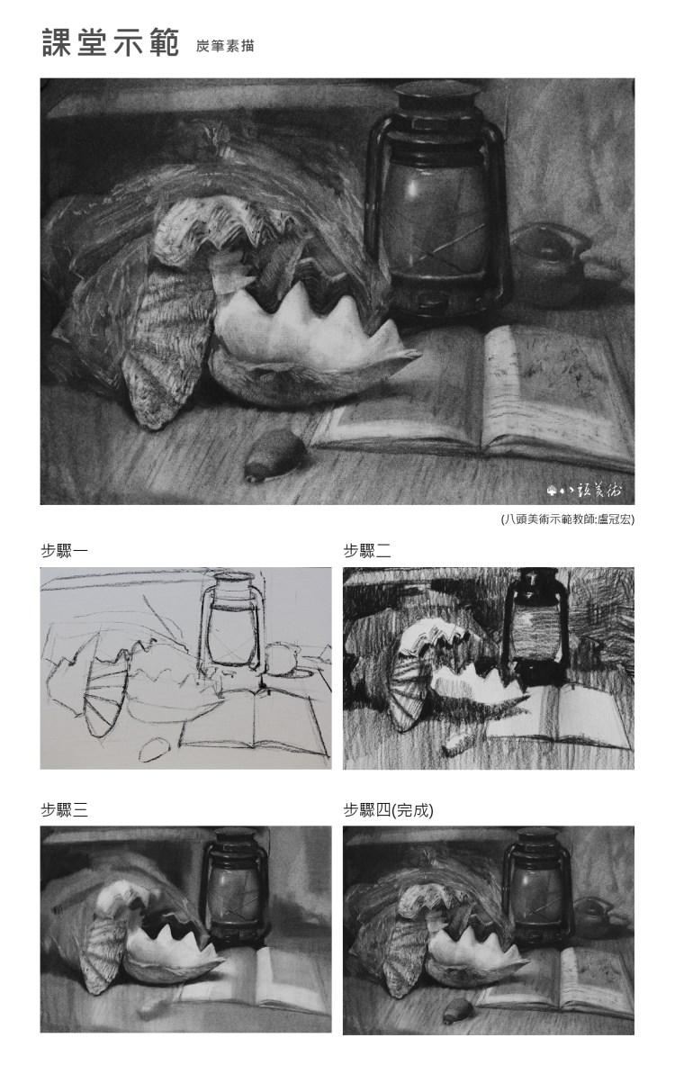 八頭畫室課堂示範-素描 (3)