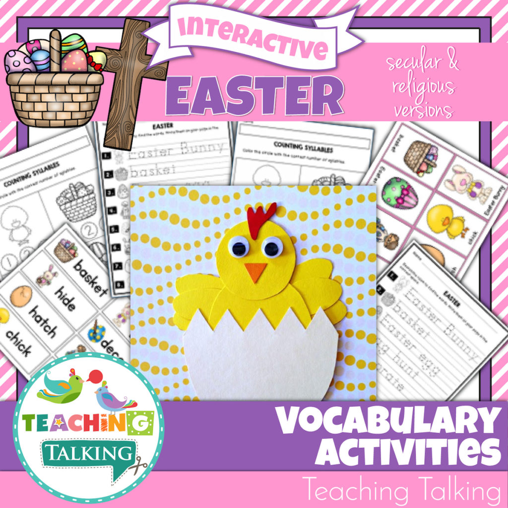 Easter Vocabulary Activities For Kids In Speech Therapy