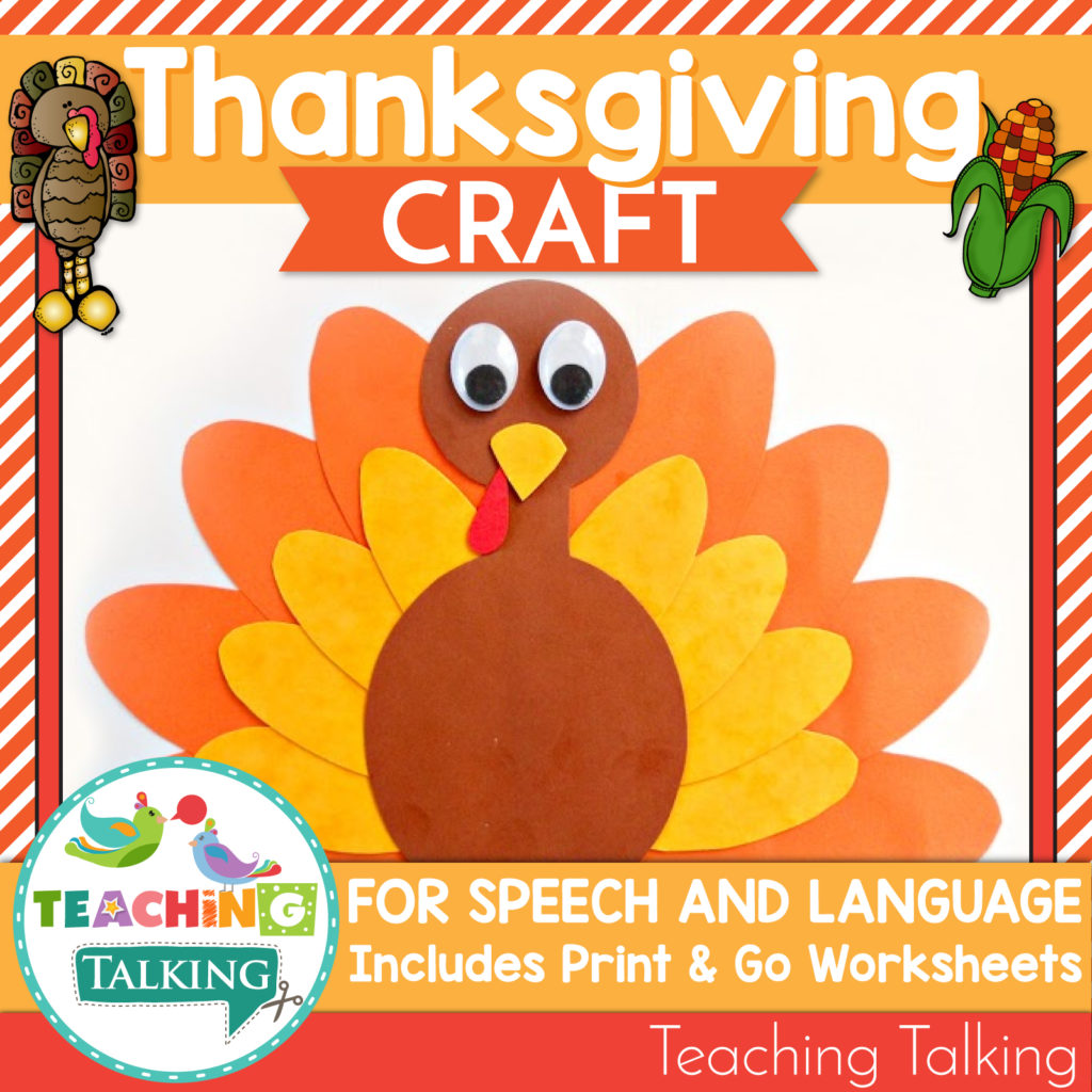 Thanksgiving Speech And Language Activities Amp Worksheets