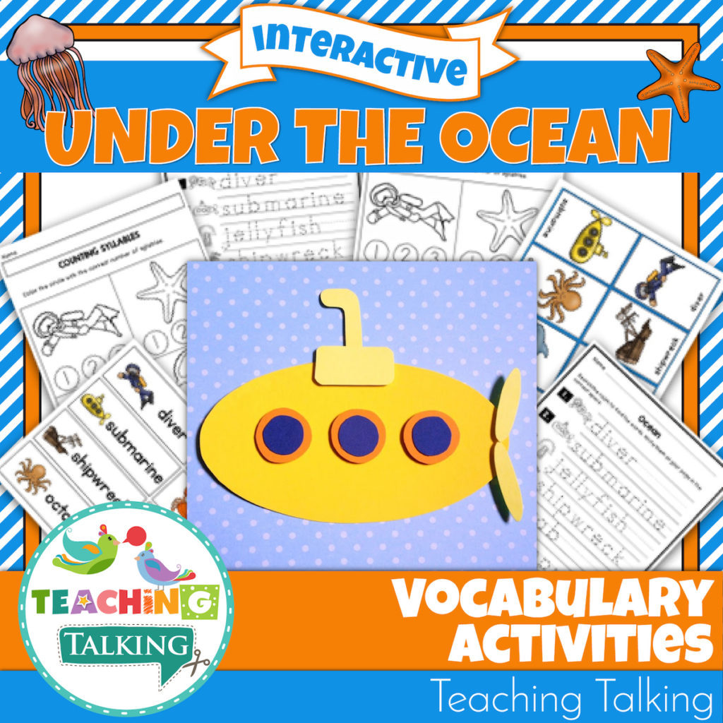 Ocean Vocabulary Activities For Speech And Language