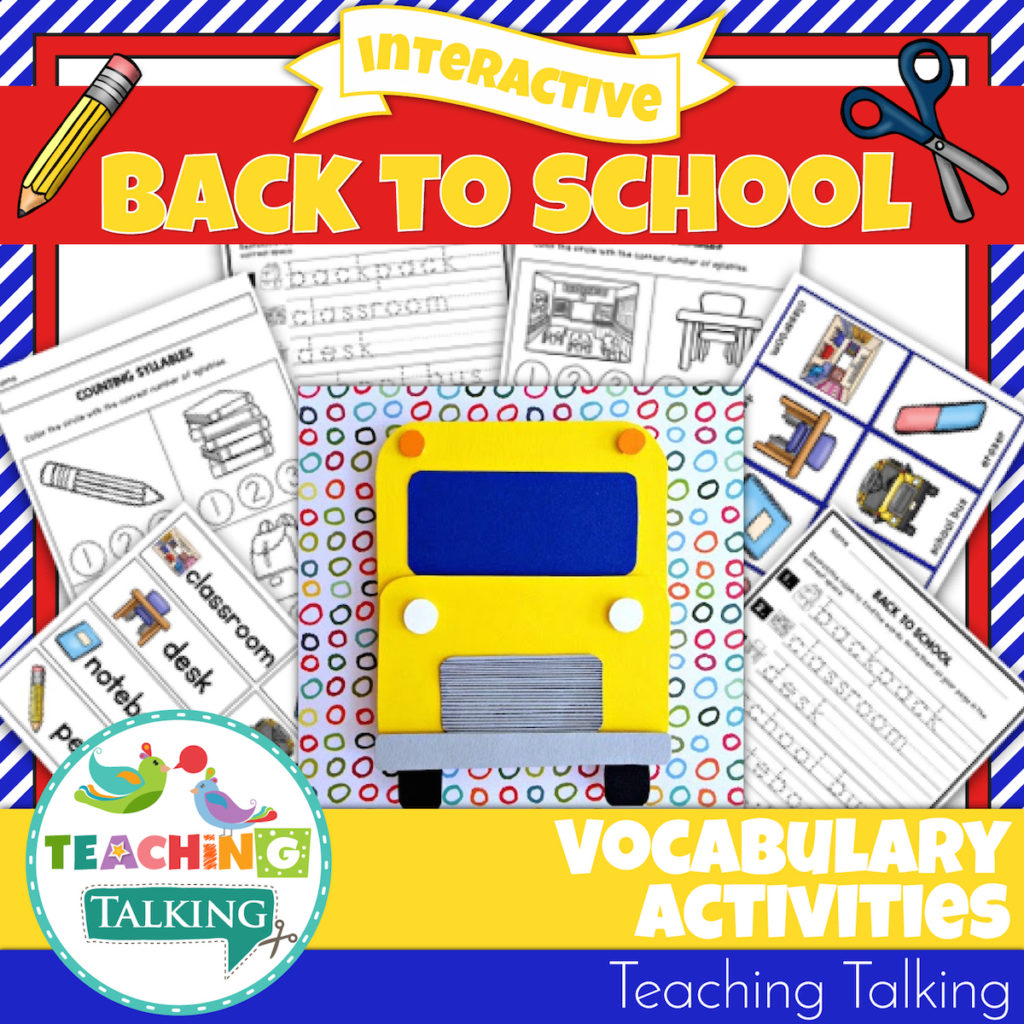 Back To School Vocabulary Activities For Speech Therapy