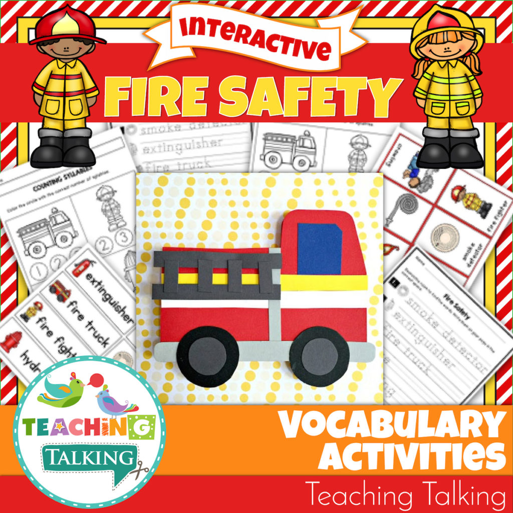 Fire Safety Vocabulary Activities For Speech Therapy