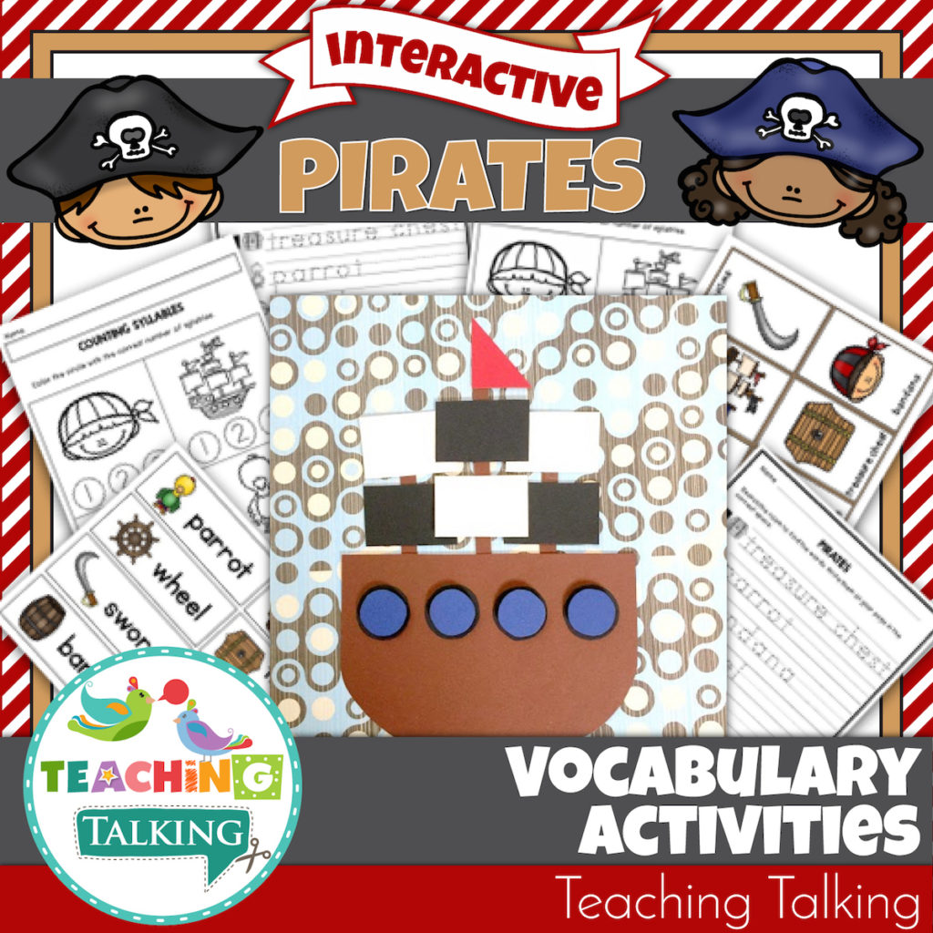 Pirate Vocabulary Activities For Speech Therapists