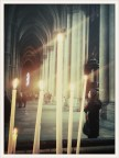reims cathedral interior candle