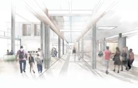 Internal Render-Colonnade glazed link Panoramic