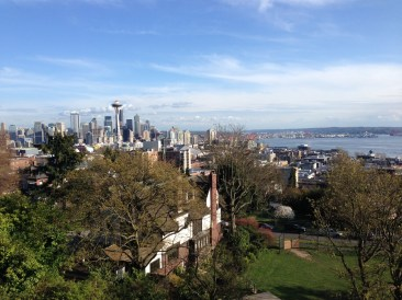 View of the city from Kerry Park. Too cloudy to see Rainier.