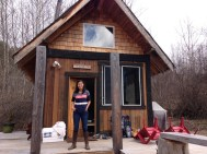 Adorable little cabin that we stayed in for a month. Did I say little? It's huge compared to our trailer.