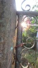 Sun Through Gate - Chiang Mai Thailand