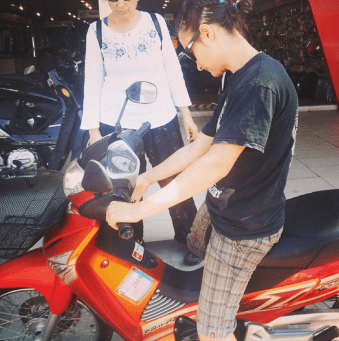 Sylvie and her Motorbike - Chiang Mai Thailand