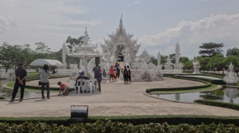 Wide Shot Wat Rong Khun The White Temple