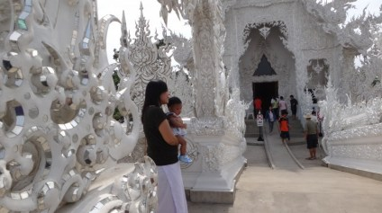 Woman with Baby - Wat Rong Khun The White Temple
