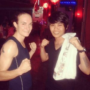 Sylvie von Duuglas-Ittu and Jo Anne Sortaridona - Muay Thai