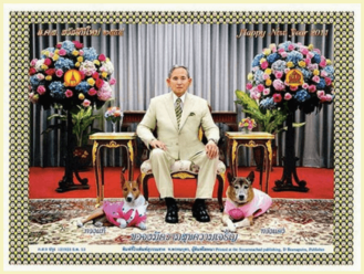 The King of Thailand and his Dogs
