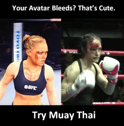 Your Avatar Bleeds, That's Cute - Ronda Rousey Muay Thai