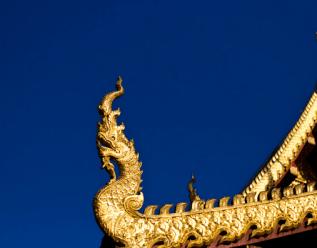 Thai Temple Roof - Dragon Head