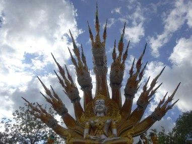 Buddha and Naga and Sky