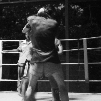 clinching - masculinity - sylvie muay thai