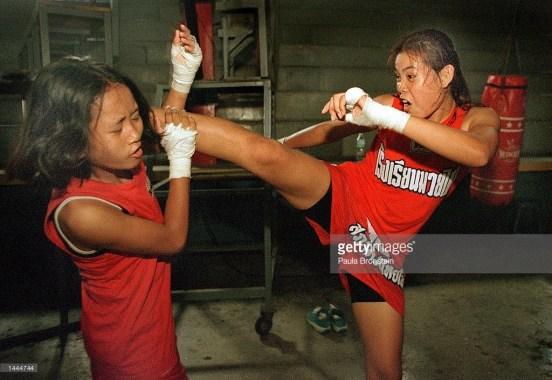 Featherweight champion Muay Thai boxer Rung-arun