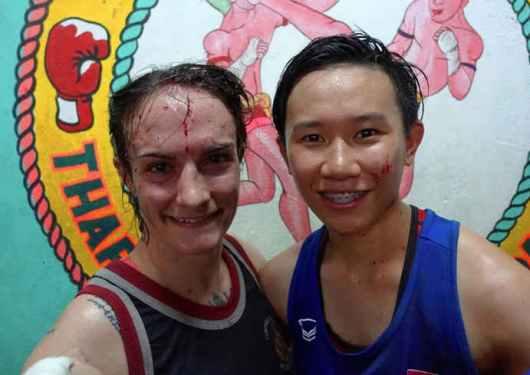 freshly broken nose - Sylvie vs Thanonchanok