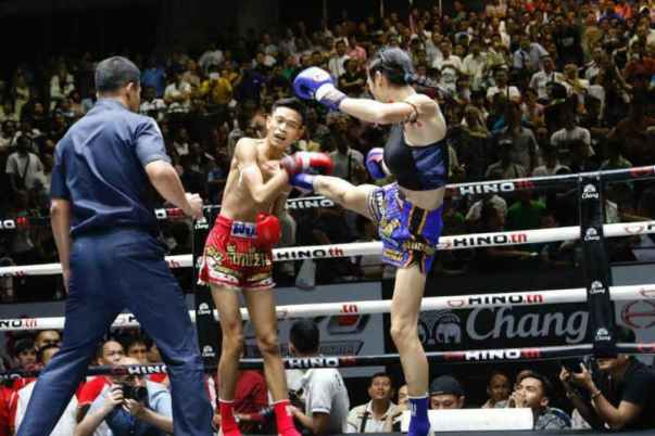 Angie Petchrungruang trans fighter lumpinee