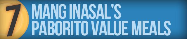Mang Inasal's Paborito Value Meals
