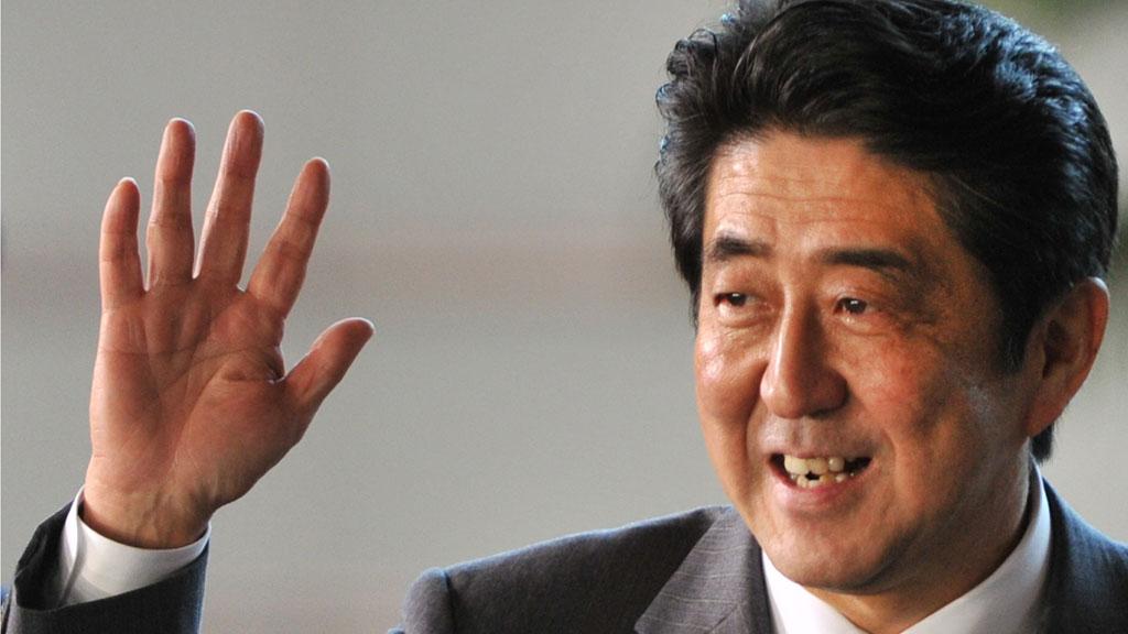 Shinzo Abe (C), electedd by the parliame