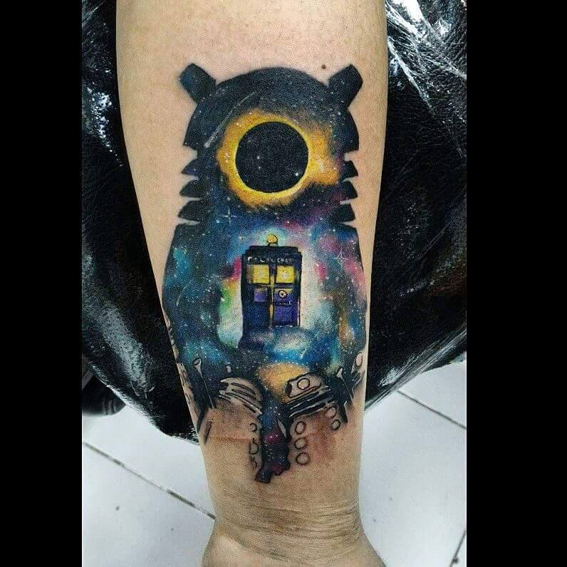 Doctor Who Tattoo By Atacoast Deviantart Com On: Tattoo Places For Your Special Tattoo Needs