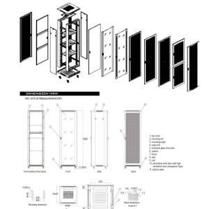 AR32-68 Armario – Rack 32 U. 600 x 800