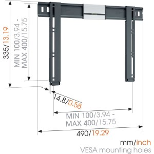 THIN 405 ExtraThin Soporte TV Fijo 400×400 | Vogel's