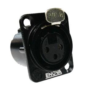 XL13FB Conector XLR 3P. chasis metálico hembra negro | Enova