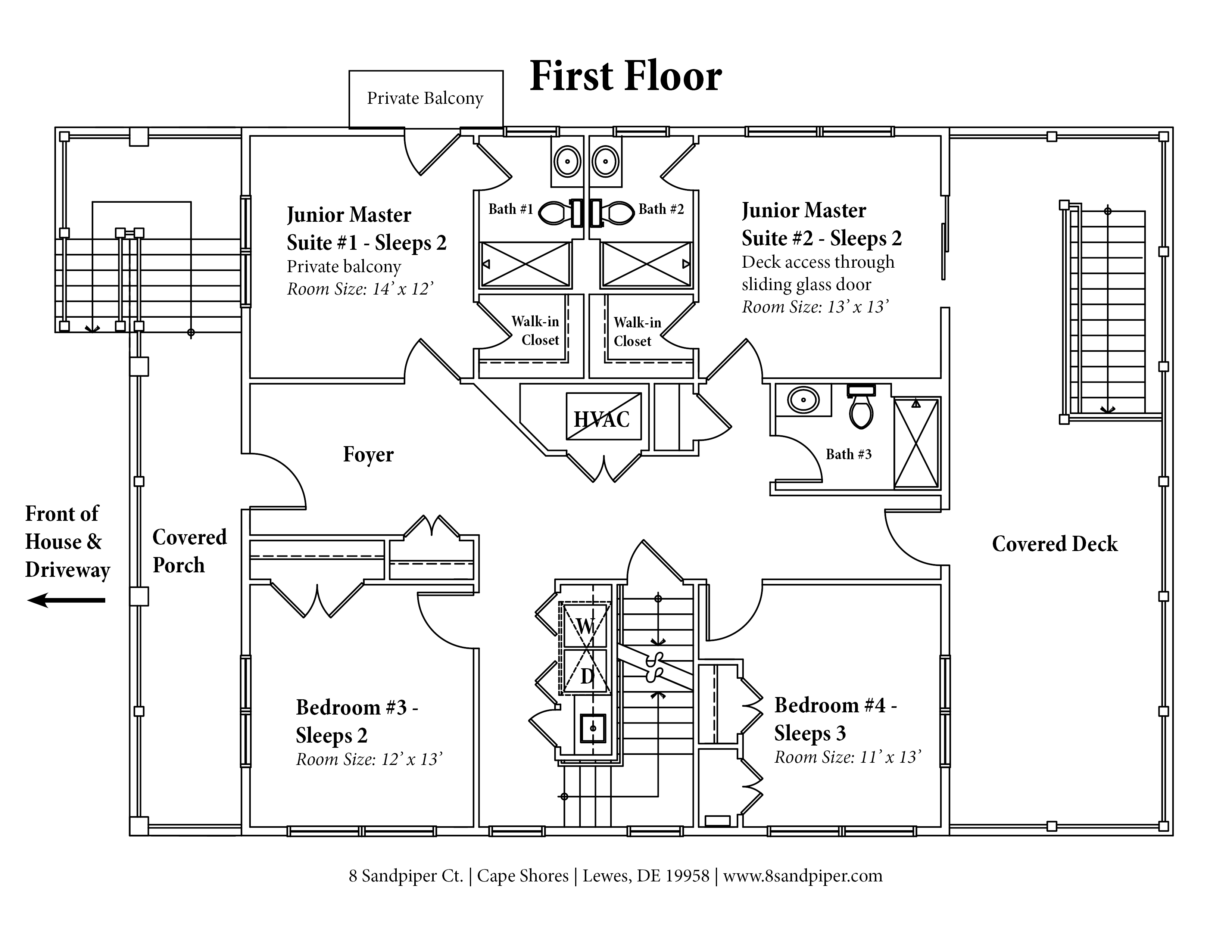 House floor plan 8 sandpiper for Ground floor vs first floor
