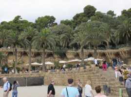 グエル公園21中央広場_バルセロナ5-2ある日本人観光客のスペイン旅行記