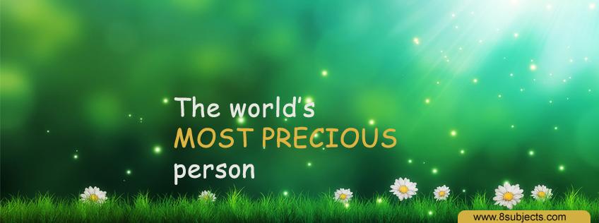 Precious Person FB Cover