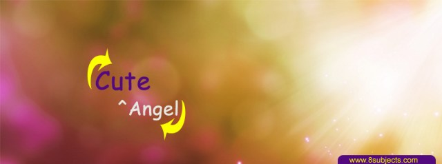 Cute Angel facebook cover