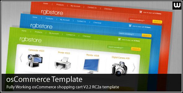 Free responsive os commerce templates 8 subjects rgbstore oscommerce shopping cart themeforest maxwellsz