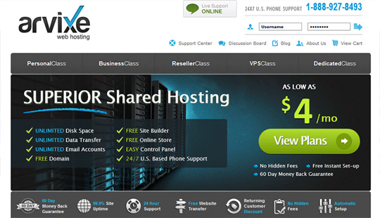 arvixe web hosting for wordpress